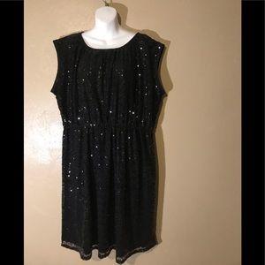 Lane Bryant black sequined dress size 18/20.  NWOT
